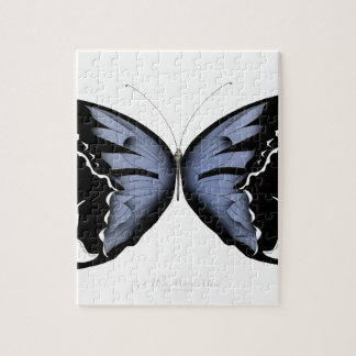 Blue Butterfly 4 Blue Marsh Maid Jigsaw Puzzle