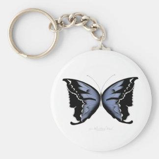 Blue Butterfly 4 Blue Marsh Maid Keychain