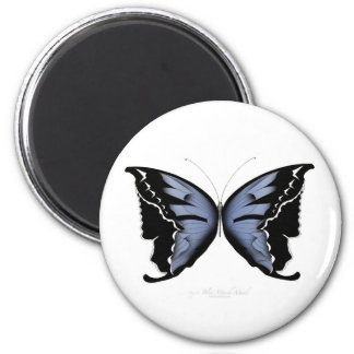 Blue Butterfly 4 Blue Marsh Maid Magnet