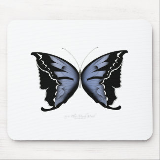 Blue Butterfly 4 Blue Marsh Maid Mouse Pad