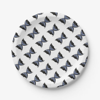 Blue Butterfly 4 Blue Marsh Maid Paper Plate