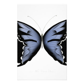Blue Butterfly 4 Blue Marsh Maid Stationery