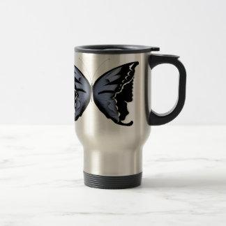 Blue Butterfly 4 Blue Marsh Maid Travel Mug