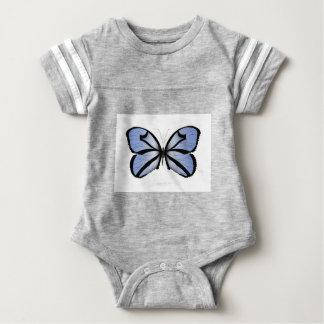 Blue Butterfly 5 Giant Blue Vane Baby Bodysuit