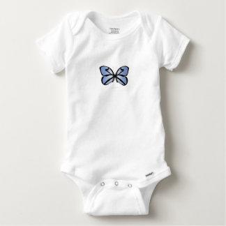 Blue Butterfly 5 Giant Blue Vane Baby Onesie