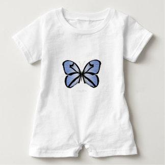 Blue Butterfly 5 Giant Blue Vane Baby Romper
