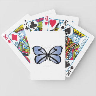 Blue Butterfly 5 Giant Blue Vane Bicycle Playing Cards