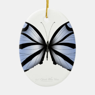 Blue Butterfly 5 Giant Blue Vane Ceramic Ornament