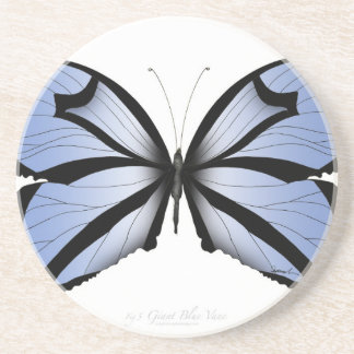 Blue Butterfly 5 Giant Blue Vane Coaster