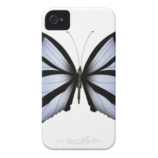 Blue Butterfly 5 Giant Blue Vane iPhone 4 Case
