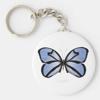 Blue Butterfly 5 Giant Blue Vane Keychain