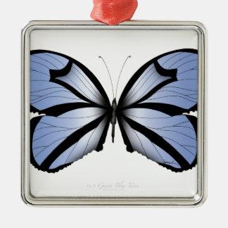 Blue Butterfly 5 Giant Blue Vane Metal Ornament