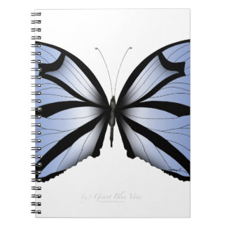 Blue Butterfly 5 Giant Blue Vane Notebook