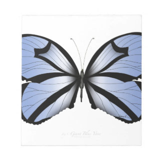 Blue Butterfly 5 Giant Blue Vane Notepad