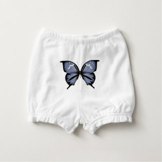 Blue Butterfly 6 Small Diamond Blue Diaper Cover