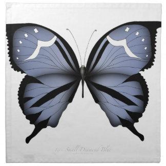 Blue Butterfly 6 Small Diamond Blue Napkin