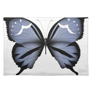 Blue Butterfly 6 Small Diamond Blue Placemat
