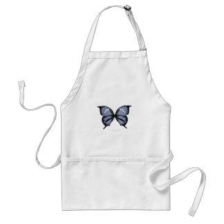 Blue Butterfly 6 Small Diamond Blue Standard Apron
