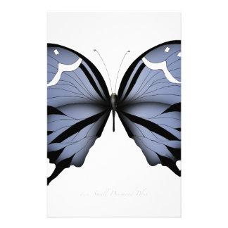 Blue Butterfly 6 Small Diamond Blue Stationery