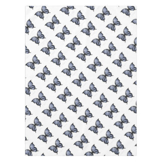 Blue Butterfly 6 Small Diamond Blue Tablecloth