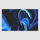 Blue Butterfly Abstract Sticker