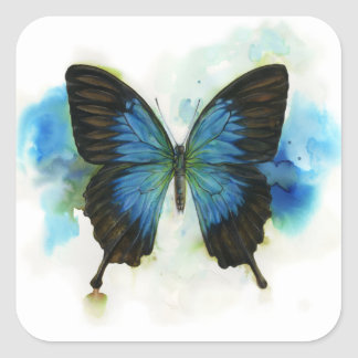 Blue Butterfly Any Occasion Stationery Square Sticker