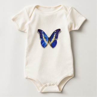 Blue Butterfly Baby Bodysuit