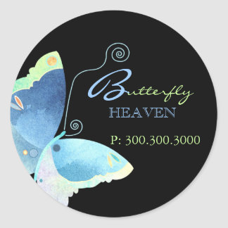 Blue Butterfly Business Label