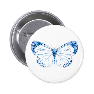 Blue Butterfly Button