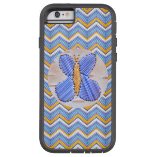 Blue Butterfly Chevron Tough Xtreme iPhone 6 Case