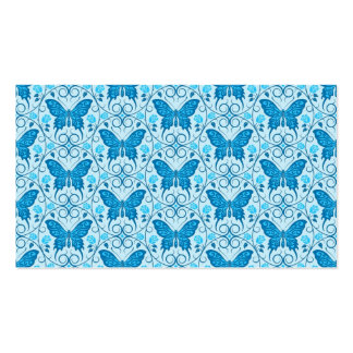 Blue Butterfly Circles Pattern Business Card Template