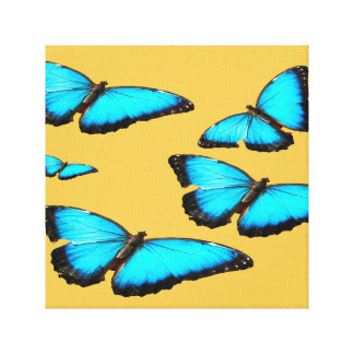 Blue butterfly custom cards and paper products canvas prints