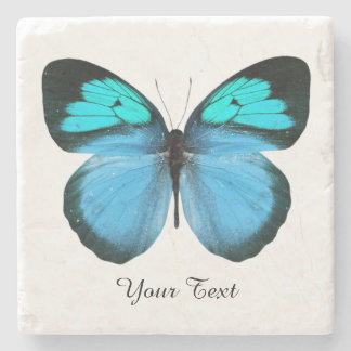 Blue Butterfly Custom Stone Coaster