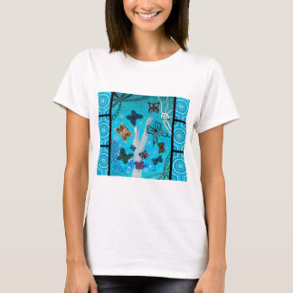 Blue Butterfly Dreaming T-Shirt