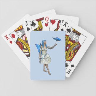 Blue Butterfly Fairy Poker Deck