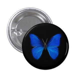 Blue Butterfly Flying Insect Buttons