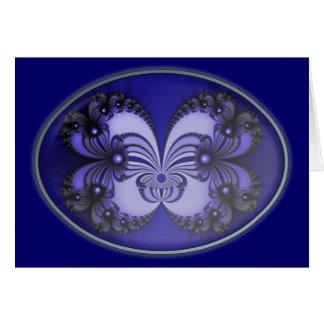 Blue Butterfly Fractal 200706070030 Card