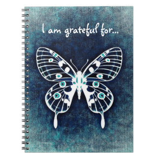 Blue Butterfly Gratitude Journal Note Books