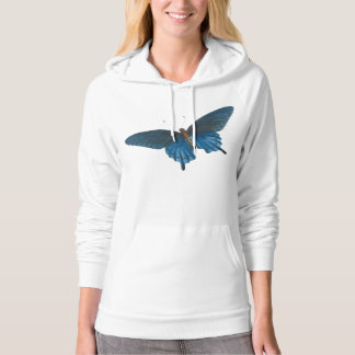 Blue Butterfly Illustration Hoodie