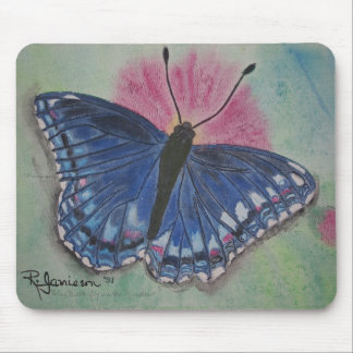 BLUE BUTTERFLY IN A MEADOW MOUSE PAD