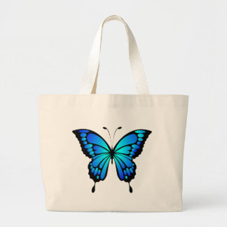 Blue Butterfly Jumbo Tote