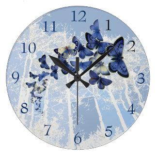 Blue Butterfly kaleidoscope flight Wall Clock