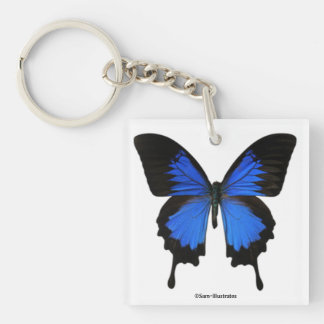 Blue Butterfly Keychain Accessory