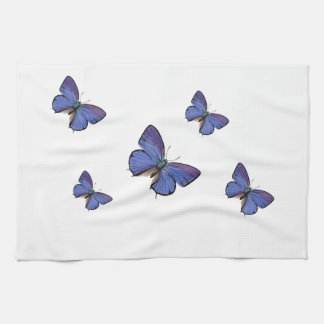 blue butterfly kitchen towels