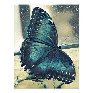 Blue Butterfly Letterhead Design