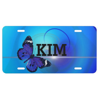 Blue Butterfly License Plate