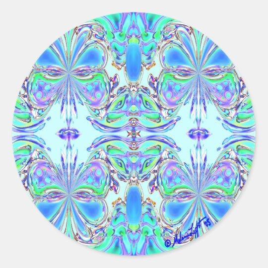 """""""Blue Butterfly Mandala"""" Stickers"""