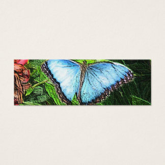 Blue Butterfly Mini Business Card