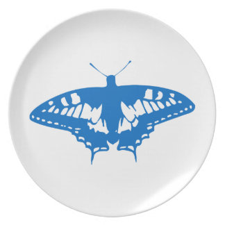 Blue Butterfly Party Plate