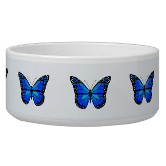 Blue butterfly pet water bowls